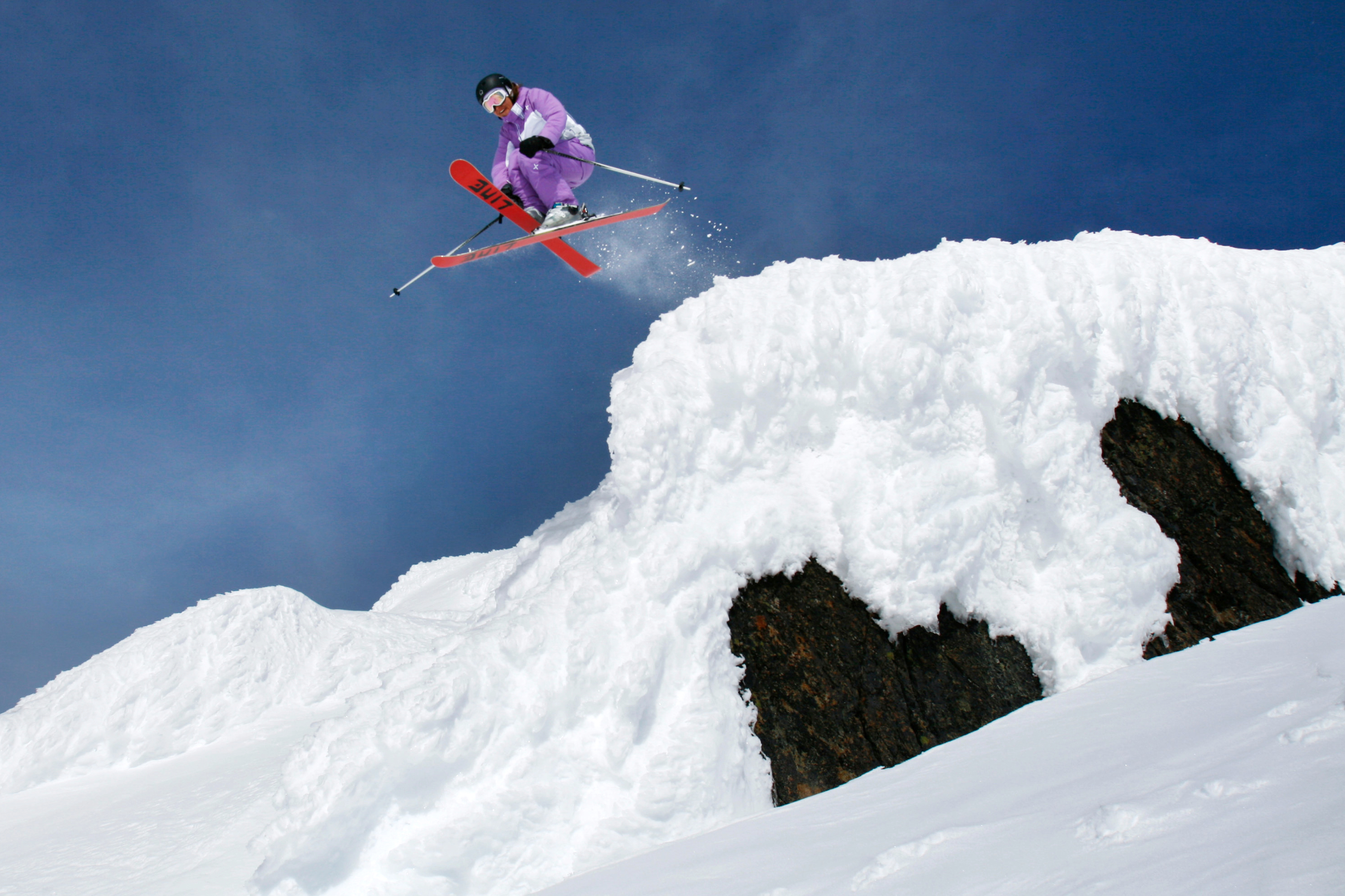 Skier Dropping In